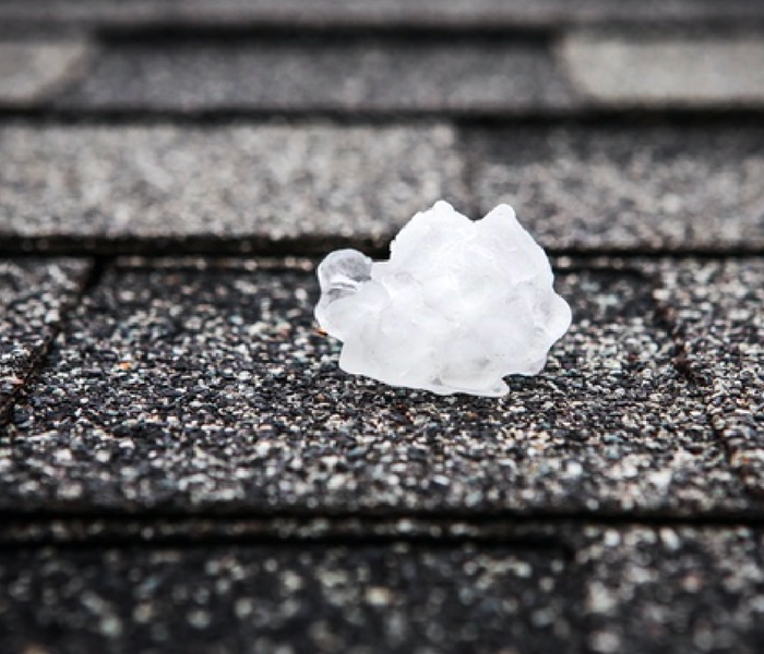 Hail on a roof.